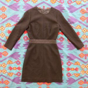 J. Crew Long Sleeve Wool Shift Dress Size 0
